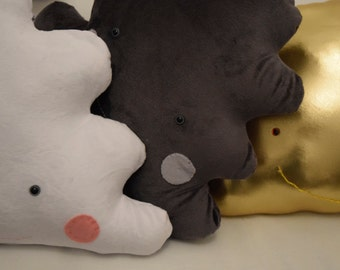 Cloud Pillow (White/Grey/Gold)