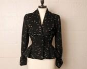 Vintage 1940's Lilli Ann Black Suit Jacket S