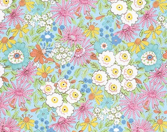Meadow Morning Glory Pink - PWDF239 Dena Designs Fishburn 100% Quilters Cotton