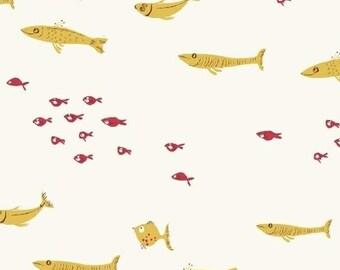 Swim Class Yellow - Heather Ross MENDOCINO 2016 - Windham Fabrics