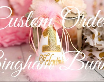 Custom  Listing for Flores,  Birthday Hat
