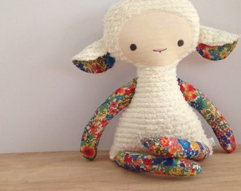 Liberty of London Floral Chenille Lovey Lamb