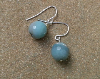 Faceted Amazonite Bead on Sterling or Gold-Filled Wire