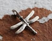 10% off DRAGONFLY No. 114 .. 1 Mykonos Greek Dragonfly Pendant Charm 29x25mm (M114-1)