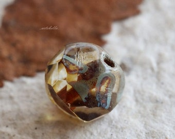 10% off STREAM PEBBLES No. 2 .. New 10 Czech Picasso Glass Baroque Beads 8mm (5359-10)
