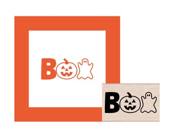 NEW for 2016 BOO Halloween Rubber Stamp