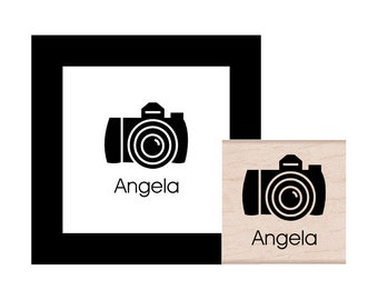 DSLR Camera Personalized Rubber Stamp