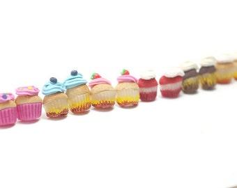one cupcake strawberry earring