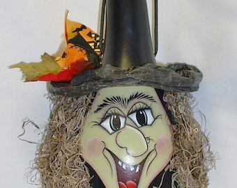 Halloween Witch Gourd - Hand Painted
