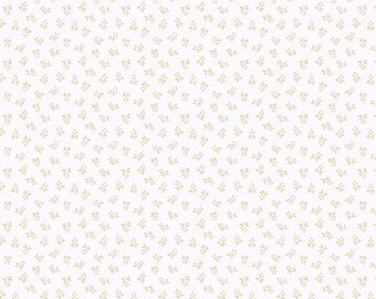 Andover Itsy Bits Fabric, Ivory, by Renee Nanneman of Need'l Love, #3941
