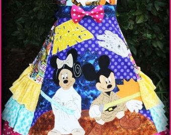 Girls Disney Star Wars Dress Sizes 2 3 4 5 6 7 8 9 10
