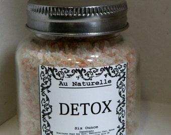 DE TOX    -   Bath Salts    -    Four Ounce Or Six Ounce   -     All Natural Bath Salts     -     Detoxifying Bath  -  Soothing  -  Calming
