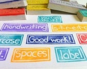 create a word, 5.00 word stamp, hand carved rubber stamps, handmade rubber stamp