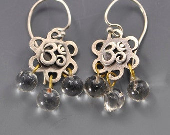 Serenity- Zen Om Ohm Sterling Silver Affirmation Earrings by Dana Evans Studio