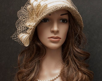 Vintage cloche hat for women, everyday summer hat for women- New style for 2016 S/S