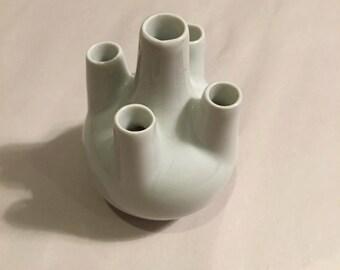 Porcelaine De France White 5 Bud Vase Small