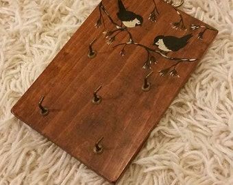 Chickadee key holder