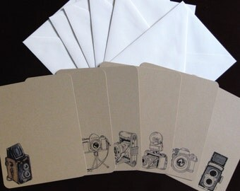 Camera Flat Note Cards Set of Six