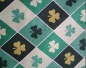 Lucky Irish Fabric Argyle Shamrock green