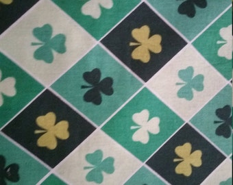 Lucky Irish Fabric Argyle Shamrock green