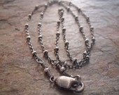 Sterling Silver Chain with Sterling Silver Round Beads