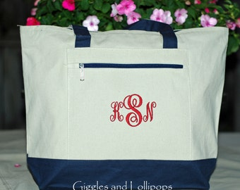 Personalized tote bag brides wedding bridesmaid flower girl teacher tote beach bag