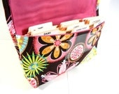 Coupon Organizer Receipt Holder Fabric Carnival Bloom Flower Pink Lining