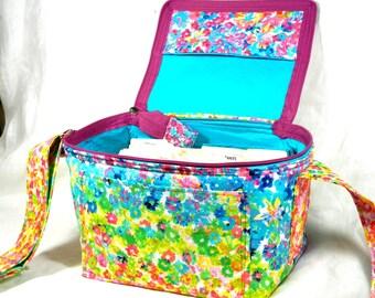 Coupon Pocketbook, Coupon Organizer, Single Wide, Coupon Holder, Extreme Couponing, Coupon Binder, Watercolor Floral Fabric