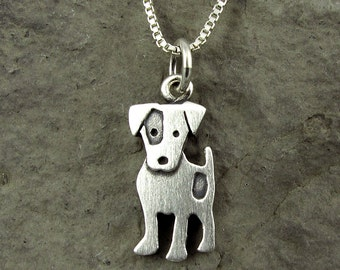 Tiny Jack Russell terrier necklace / pendant