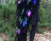 SALE! Peacock Tail Full Length Costume - Double Sided and Extra Fluffy! One size fits most - Guaranteed Delivery By Halloween