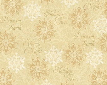 Cotton Fabric, Holiday Fabric, Christmas Fabric, Winter Bliss 3248-44 Cotton Fabric- Quilting and Sewing~1/2 yard cuts