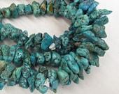 Exceptional  Natural Vivid  Blue  Kingman Turquoise Arizona  Nugget  Beads