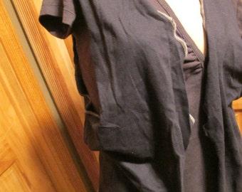 SALE - Black Jersey Vest - S/M (4667)