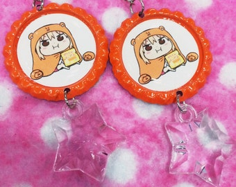 Himouto Umaru Chan Chibi Hamster Anime Gamer Earrings