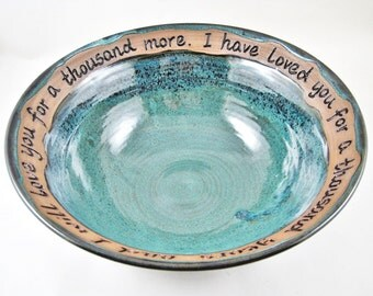 Pottery Wedding Gift - 9th Anniversary, Commitment Ceremony, fruit bowl - IN STOCK WB071D
