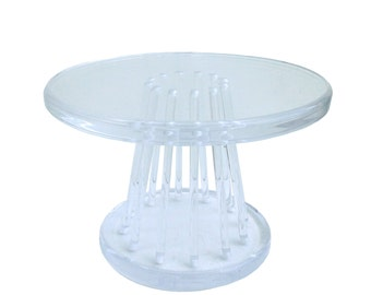 Free Shipping Thick Lucite Round Side Table Mid Century Modern