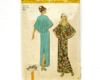Vintage Sewing Pattern - Simplicity  5420 - EVENING DRESS with Flutter Sleeves and Cape Back
