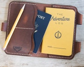 Field Notes Travel Journal / Leather Passport Holder / Leather Cover / Leather Passport Cover / Leather Passport Wallet