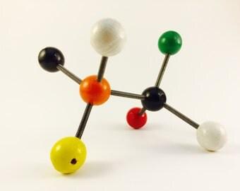Vintage Molecular Model #1 Mid Century Modern Sculpture - Science - Retro - Molecule - Atomic - Space Age