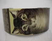 Cat Bracelet Decoupage Cuff Bracelet Cat Cuff
