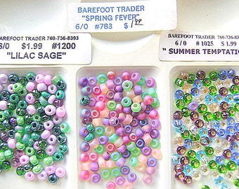 BEADS, CZECH,  6/0 ,Ocean, Green, Pink, GLASS, Seed,  Rocailles, 6/0, Spacer,  Mix, 36 Inch, Crystal, I,500