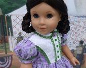 Pioneer Floral - Civil War or Prairie dress for American Girl doll