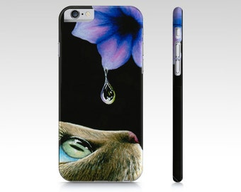Cat Cell Phone Case Cat 409 Flower - Iphone 7, 6/6s, Plus, 5/5s, Samsung Galaxy S5, S4, S3 art by L.Dumas