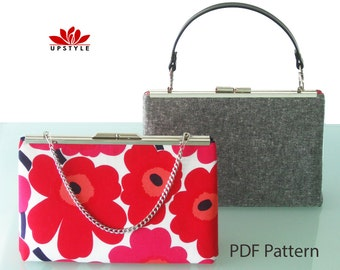 PDF Sewing Pattern -  MONTREUX - Modern Retro Purse Pattern