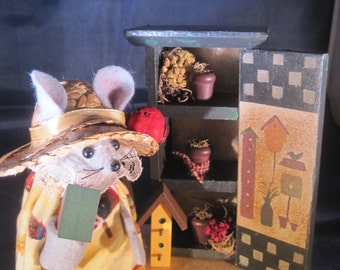 Mouse with a Cabinet and Bird Houses  NEW LOWER PRICE