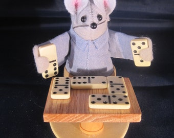 Felt Mouse Playing Dominos!