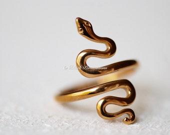 Snake Adjustable Ring - Natural Bronze - Insurance Included