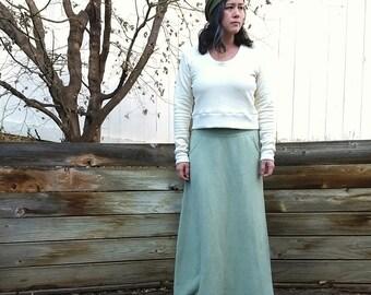 Interval cropped sweater  (hemp fleece)