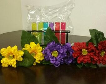Silk Flower Ink Pen - Flower pens in a shot beaker  for 25.95 SALE