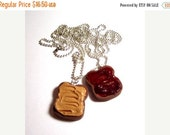SALE Peanut Butter And Jelly Polymer Clay Bestfriend Necklaces